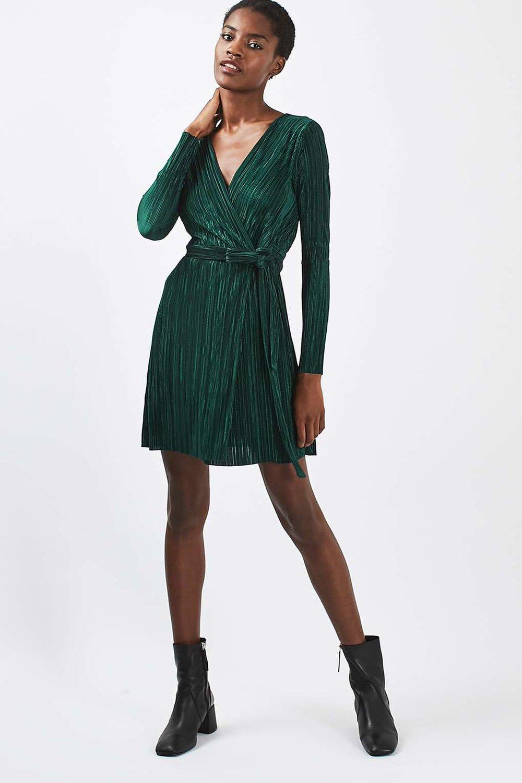 Topshop - Plisse Wrap Dress
