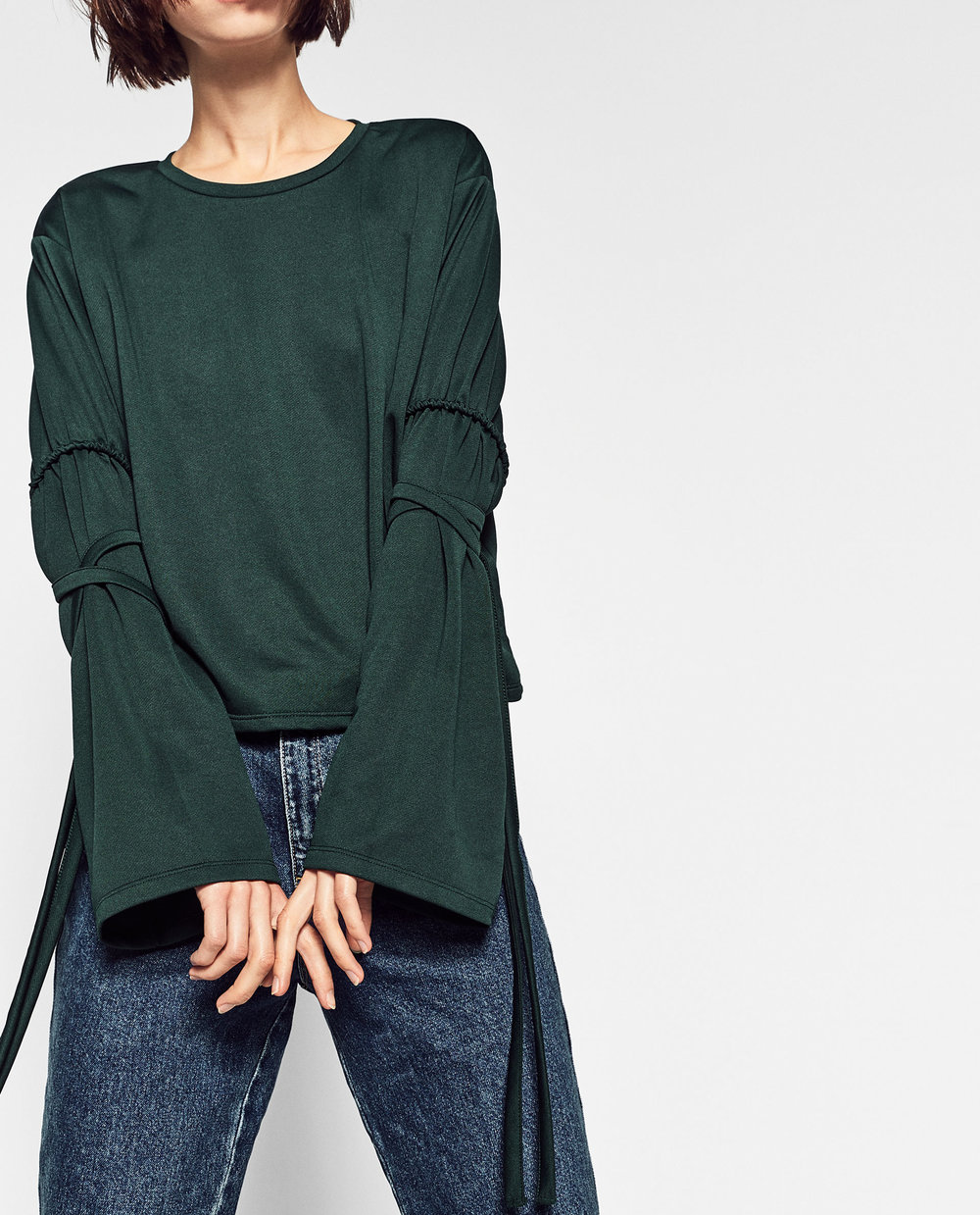 Zara  - Cord Sleeve Shirt