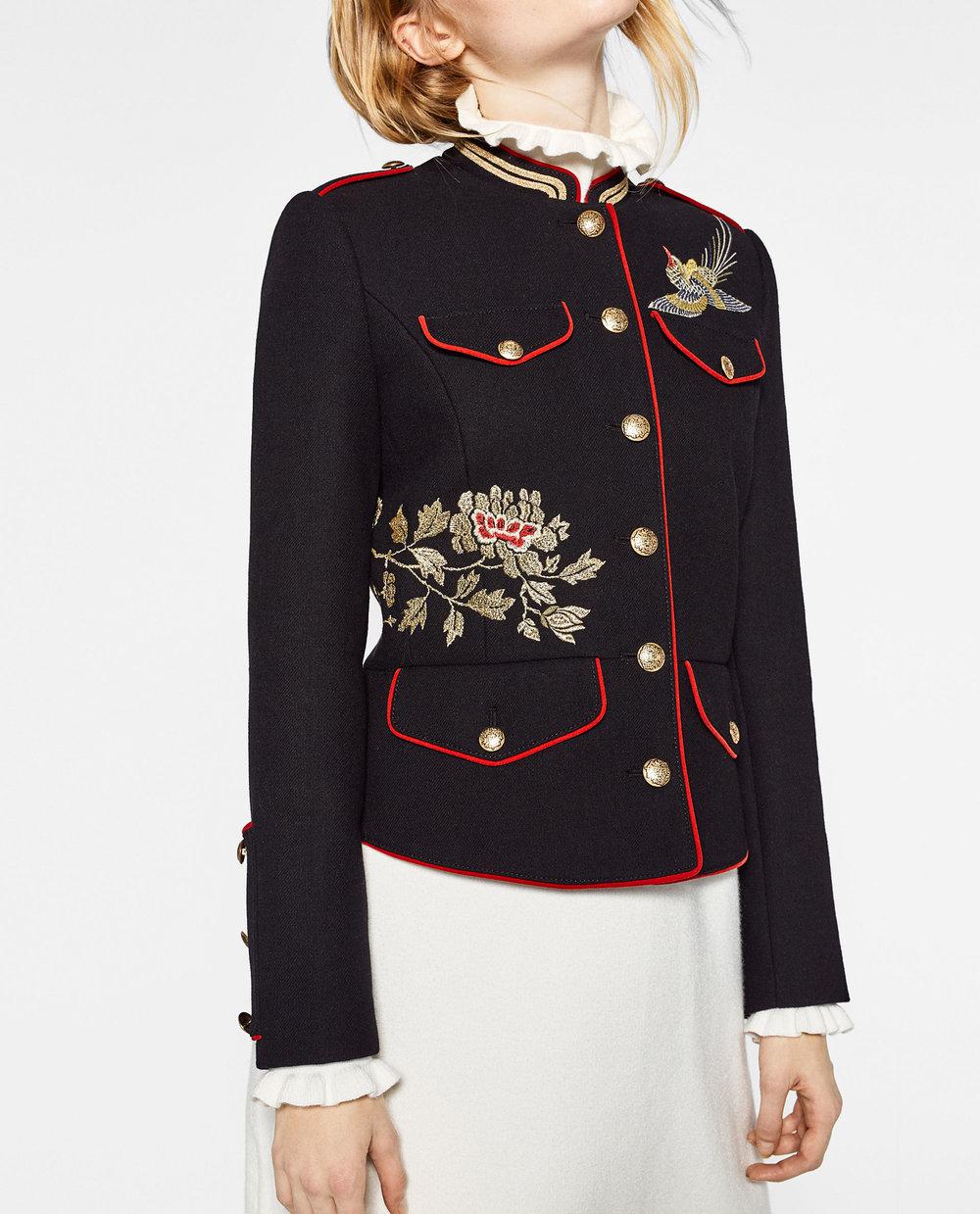 Zara - Embroidered Jacket