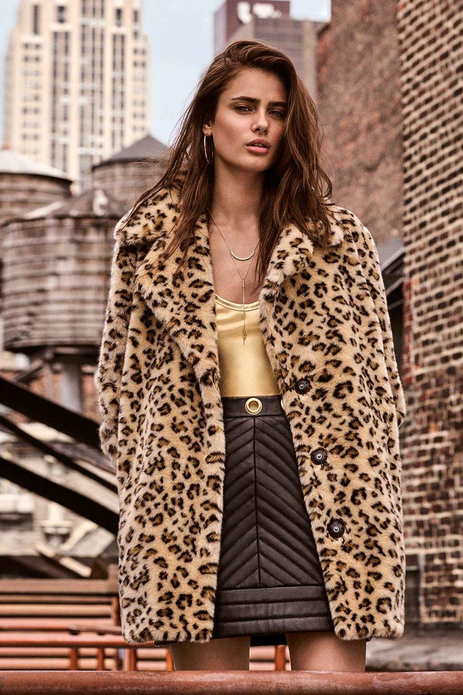 Topshop - Leopard Faux Fur Coat