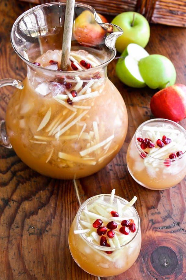 Sparkling Apple Cider Sangria via  The Kitchn