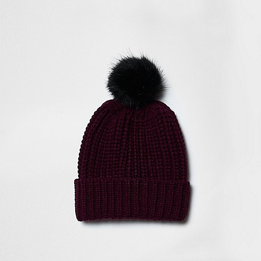 River Island Bobble Hat