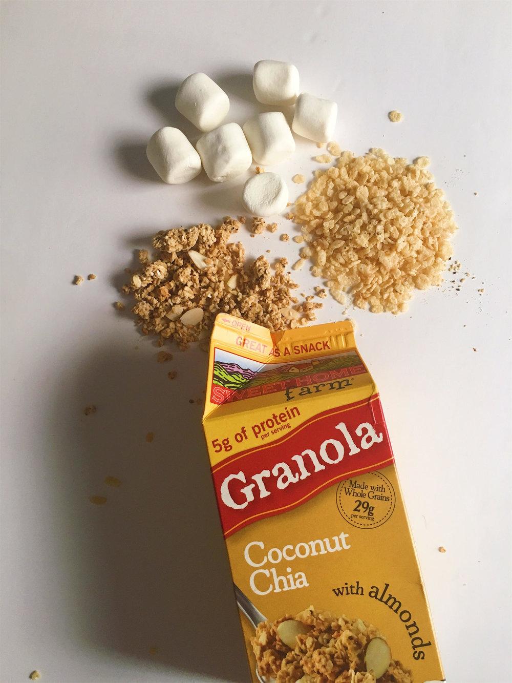 Coconut Granola Rice Krispie Treats