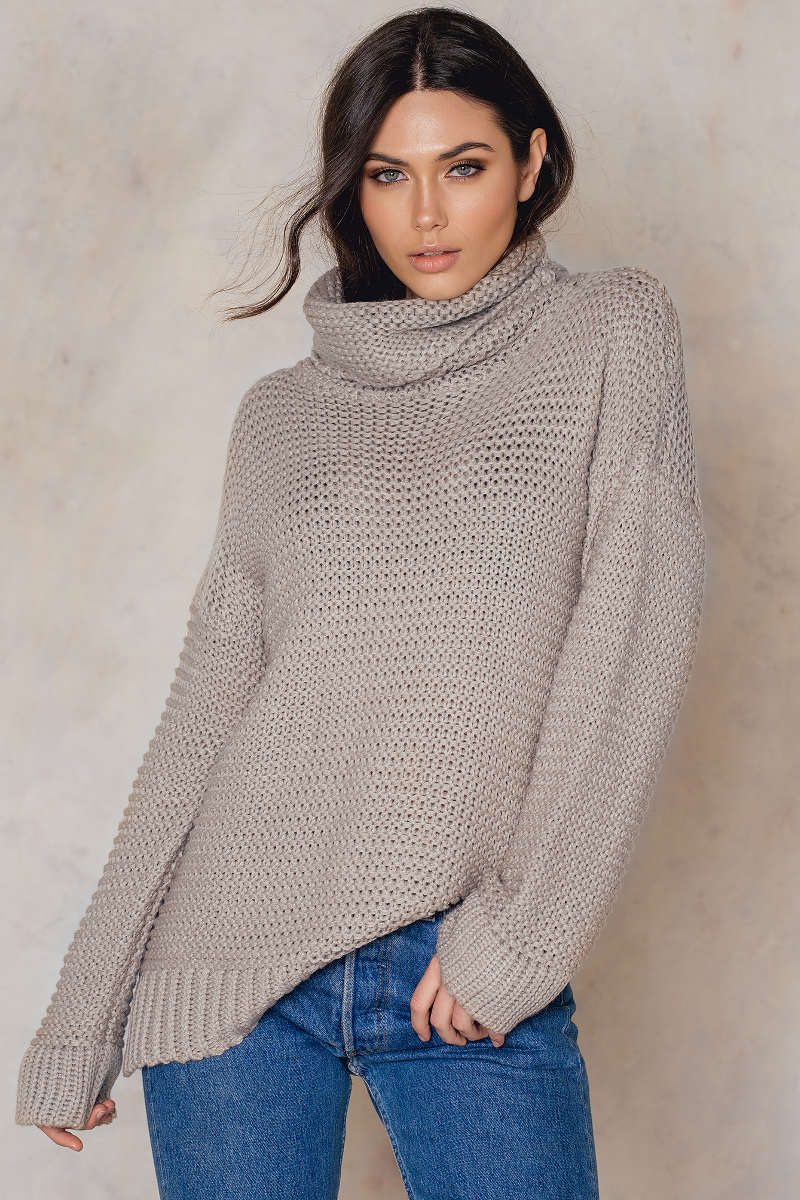 NA-KD Monique Heavy Knit Sweater