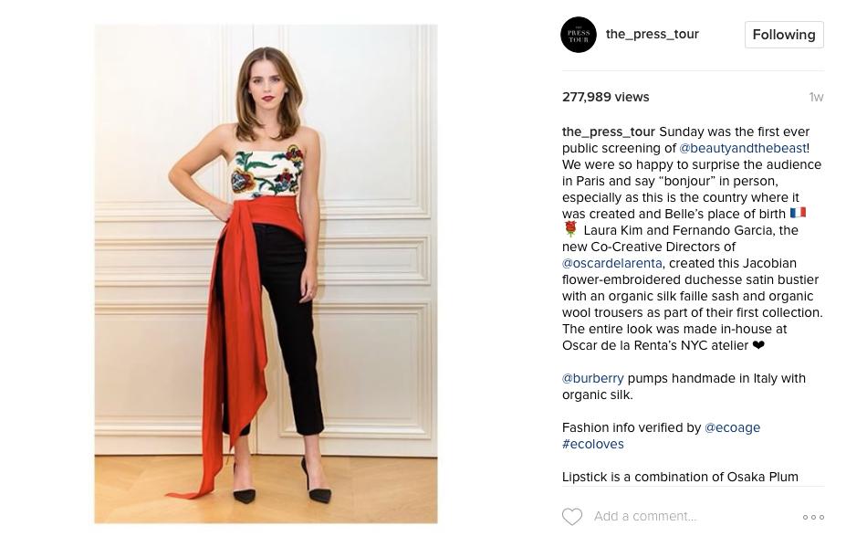 Emma Watson: Our Eco Friendly Fashion Hero