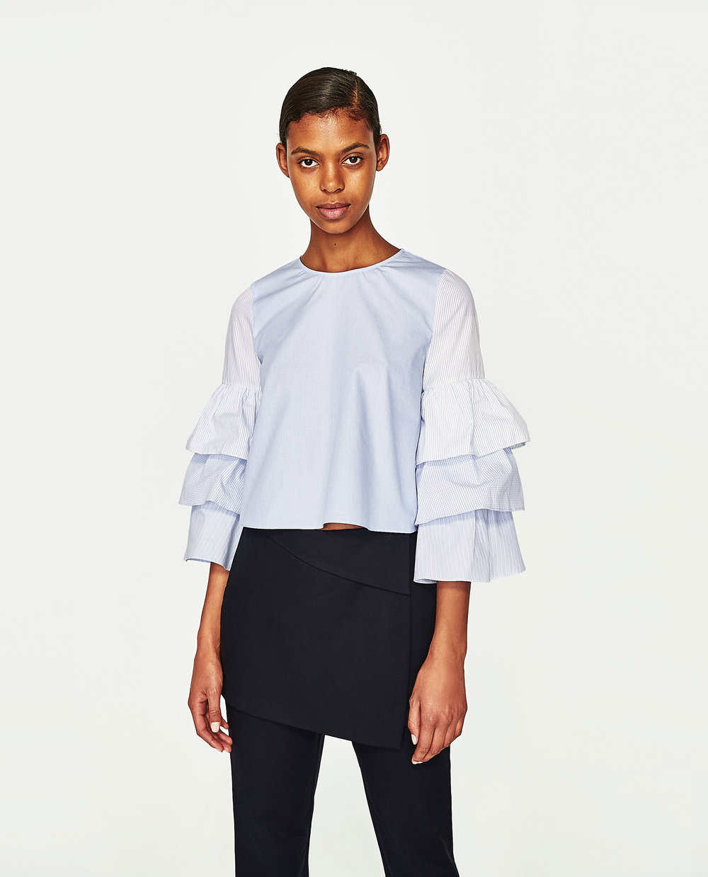 Zara - Top with Ruffles $39.90