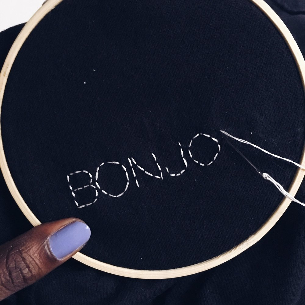 DIY Embroidery Step 5