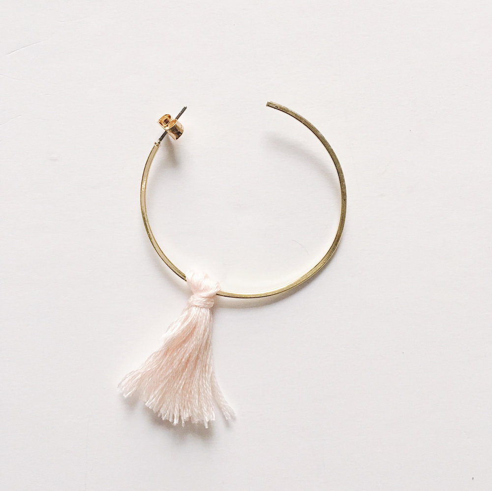 DIY Tassel Earrings Step 3