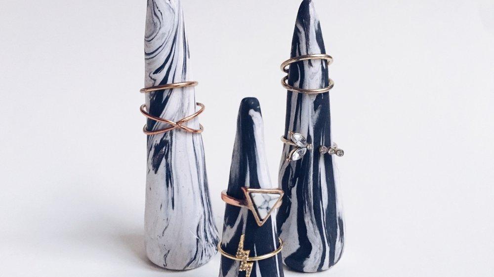 DIY Marble Ring Cone