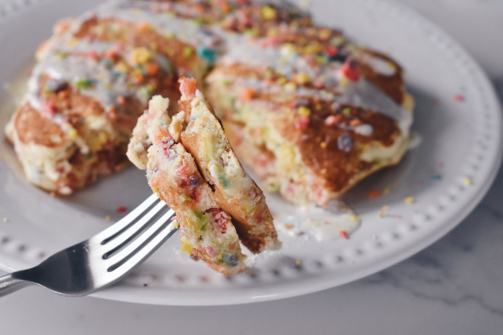 Fruity Pebble Pancakes: Your Favorite Cereal Reinvented