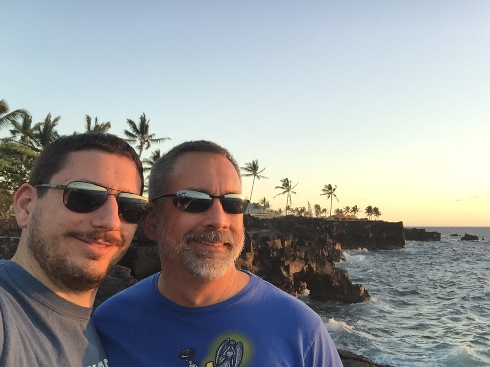 First visit to wedding site - Big Island of Hawai'i