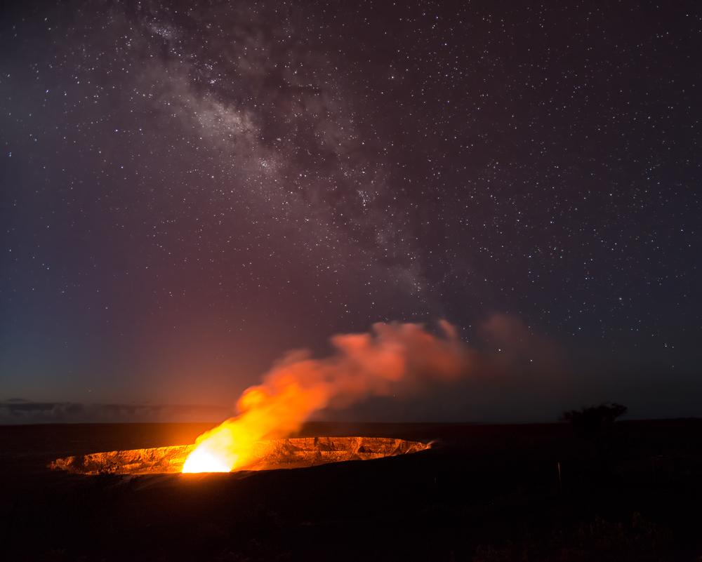 Halema'uma'u Crater of Kilauea Volcano