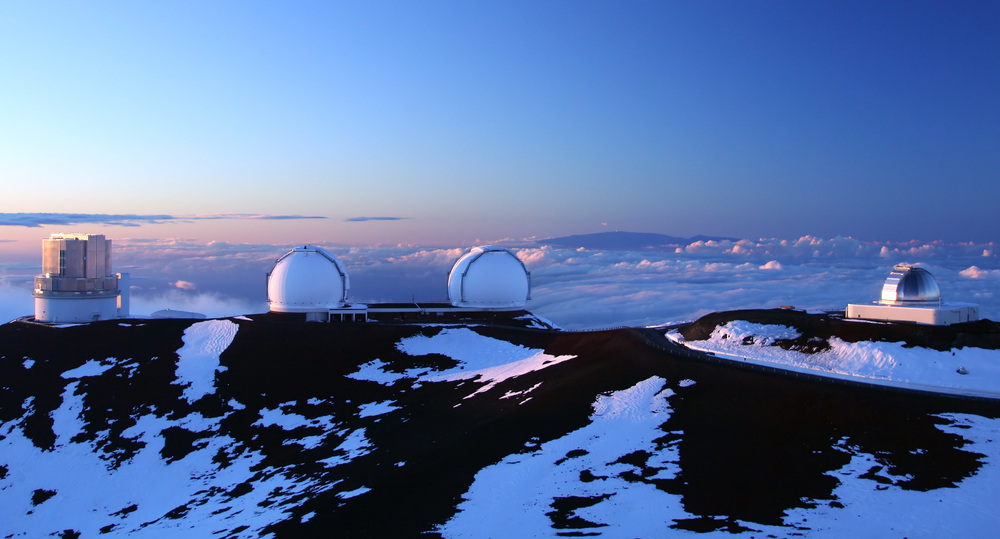 Observatories & Snow atop Mauna Kea