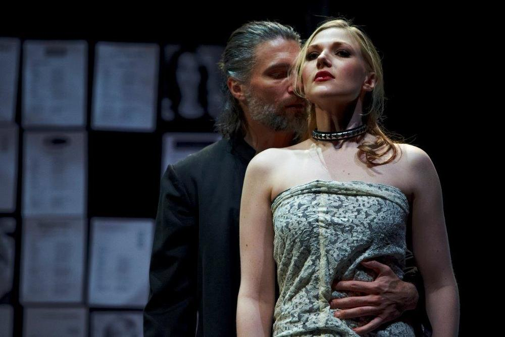 Anson Mount and Steffanie Leigh in SRT's Venus in Fur 1.jpg