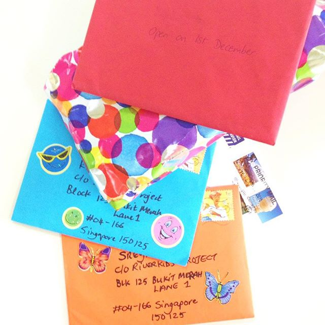 We are so excited to receive these Christmas cards from our #mentors and the little year-end #party !! A big thank you to everyone. We at #riverkids #Cambodia are already getting into a #holiday mood!! Come visit us!  #santa #december #love