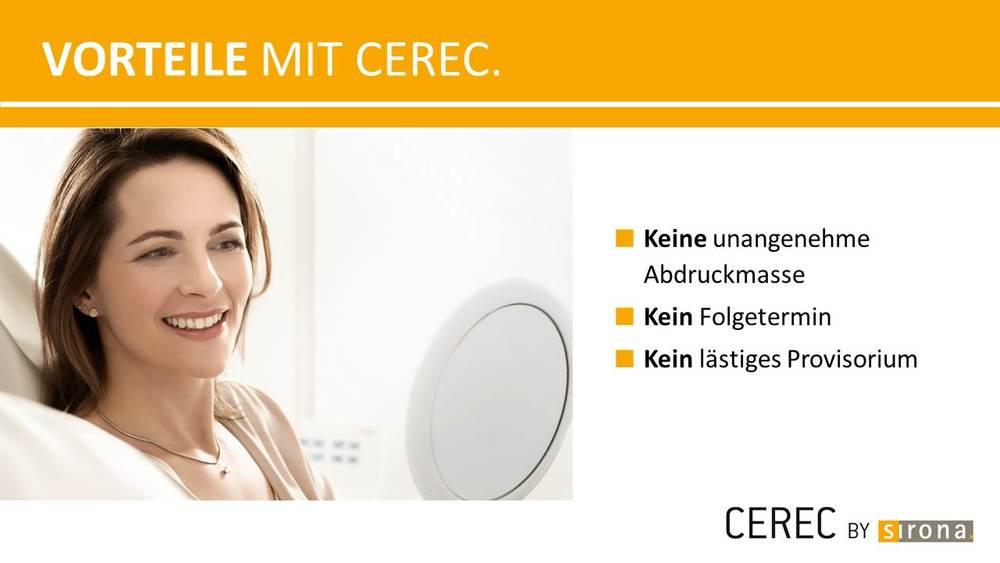 >Hier gibt es mehr Informationen zu Cerec