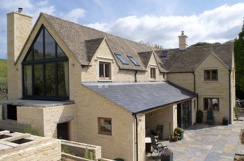 SIP constructed 3,000sqft stone new build