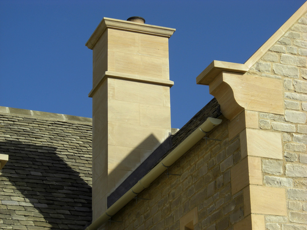 Ashlar chimney