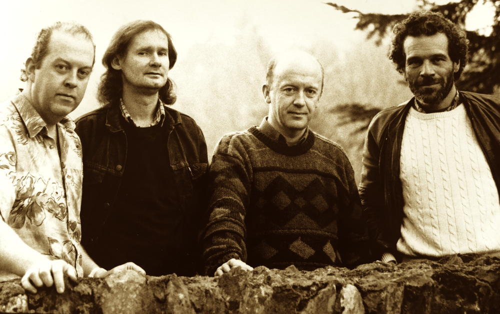 "One from the archives -  Buttons & Bows, taken in 1991 during the recording of their third album,  ""Gracenotes""."