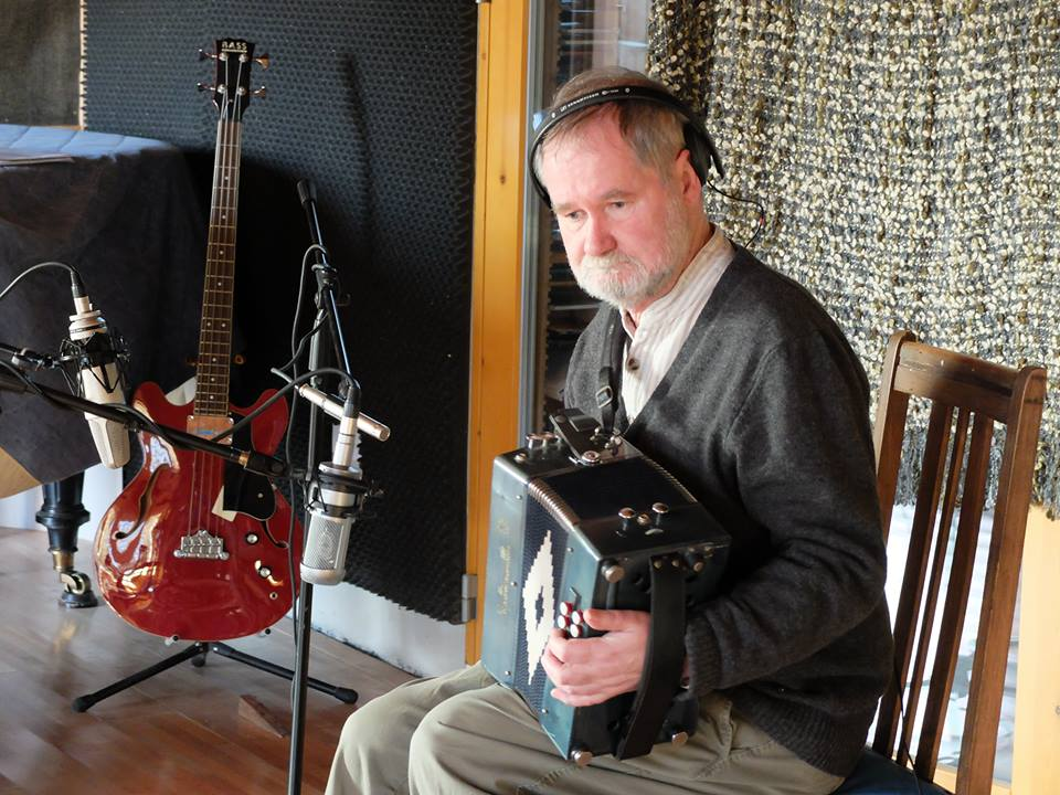 Jackie during recording session for the new Buttons & Bows album, The Return of Spring, April 2015