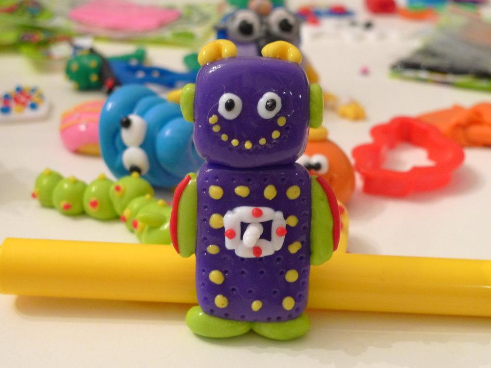 Plum Purple Nutty Putty Robot