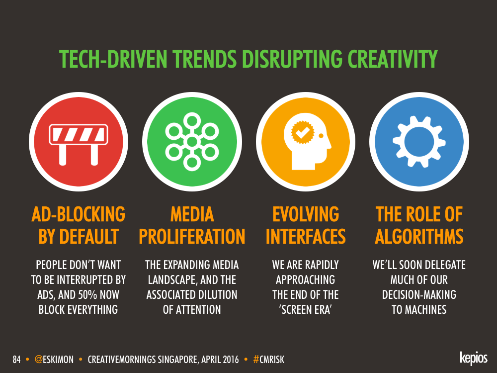 Types Of Tech Disruption - Kepios @eskimon