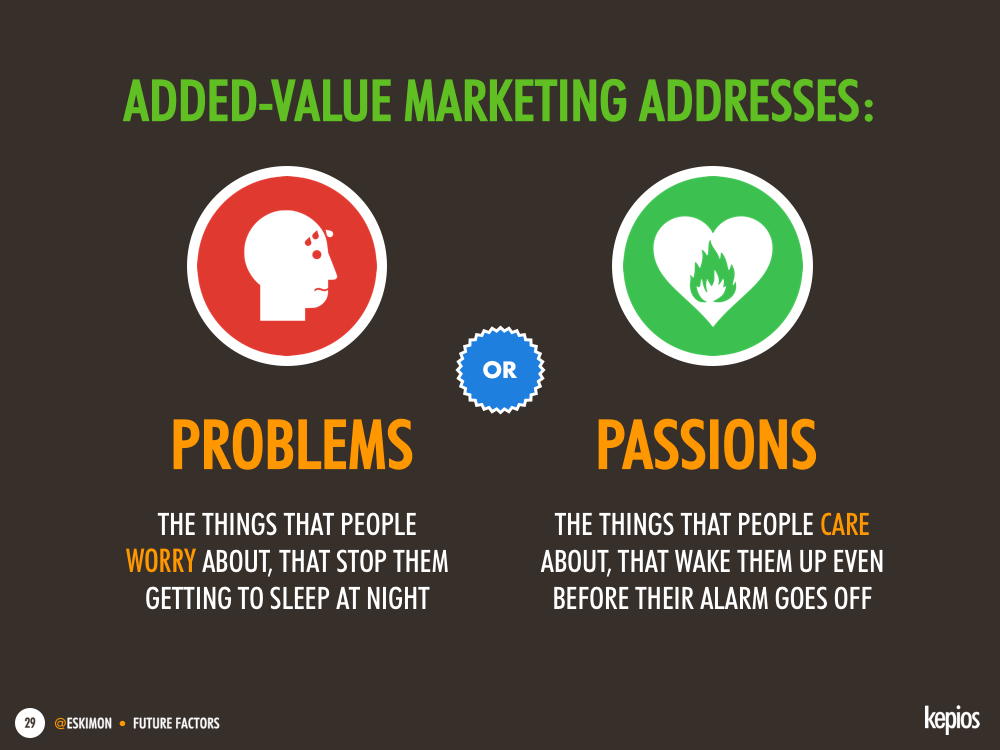 Using marketing to add value - Kepios @eskimon