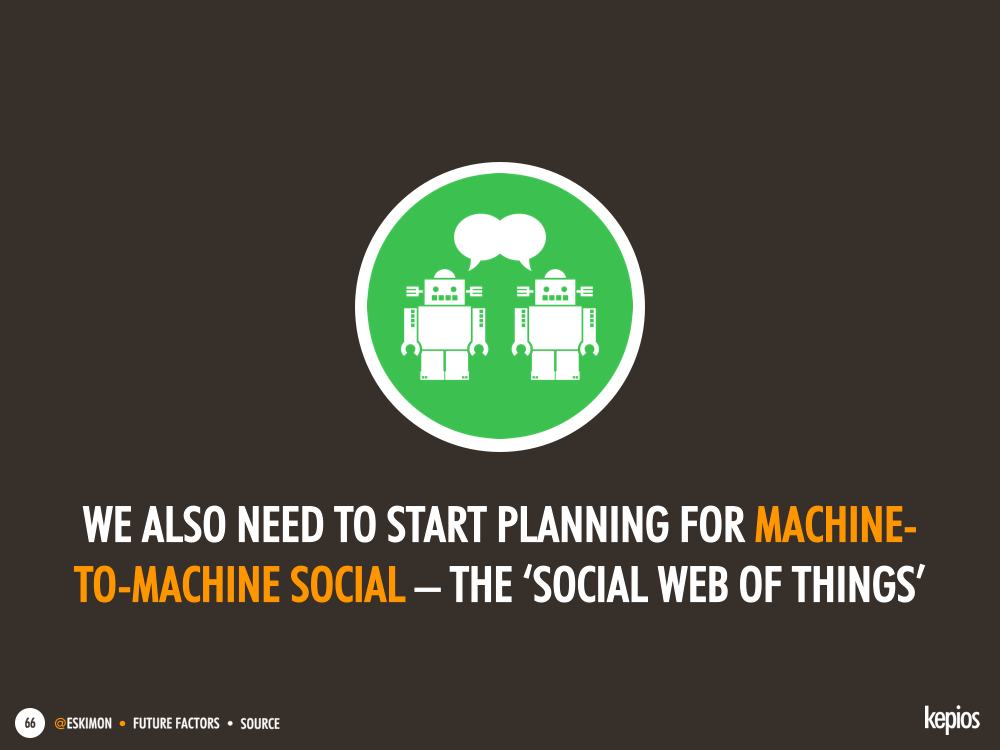 We need to start preparing for 'the social web of things' today - Kepios @eskimon