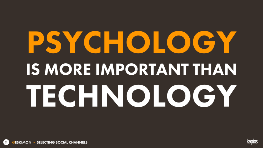 Psychology matters more than technology