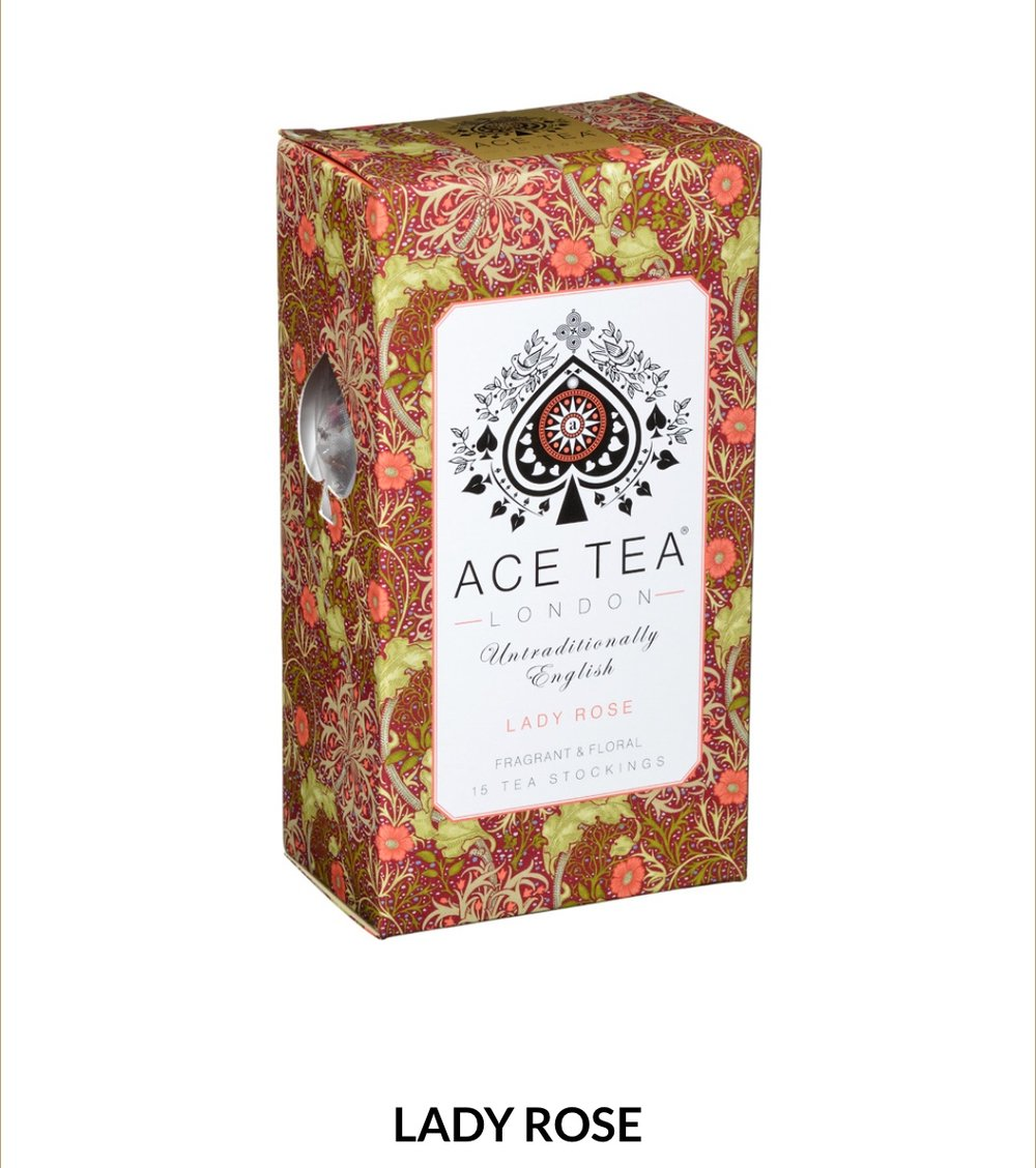 An elegant rose tea bursting with a fresh floral aroma. Deep layers of black tea with rose petals balance perfectly to create this sensory treat.  15 tea Stockings- 37.5g  $8