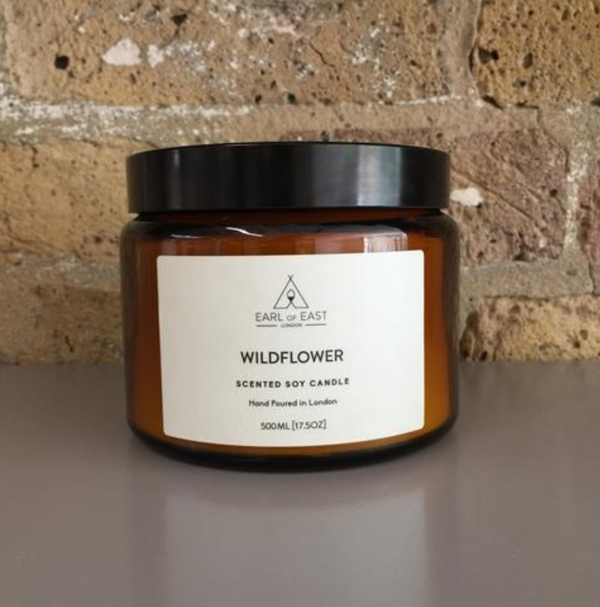 WILDFLOWER  This Wildflower scented candle reminds us of an English country garden. With a bespoke blend of jasmine, gardenia and rose geranium this is the most traditional scent profile in the range.    500ml [17.5 oz]  $70
