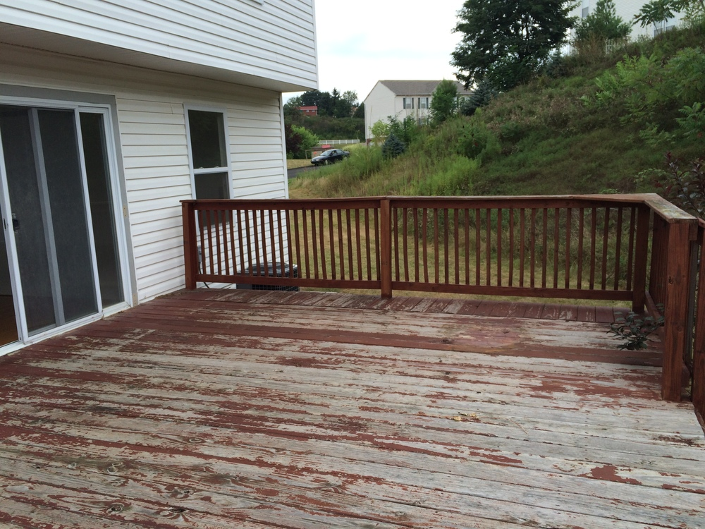 Exterior Back/Deck - BEFORE