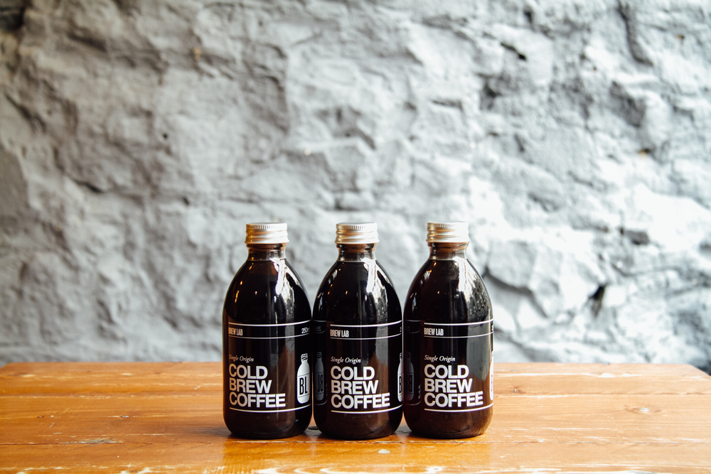 From the bottle Sip a bottled brew at home or on the go. Drink it neat, pour it over ice or swig it straight from the bottle. On early morning commutes and lingering lunch breaks, for picnics in the park and road trips up the coast—Brew Lab Cold Brew is the perfect summer companion. So good, you'll want a whole fridge full.