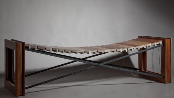 Contour,  picture frames, cable, steel, 2013