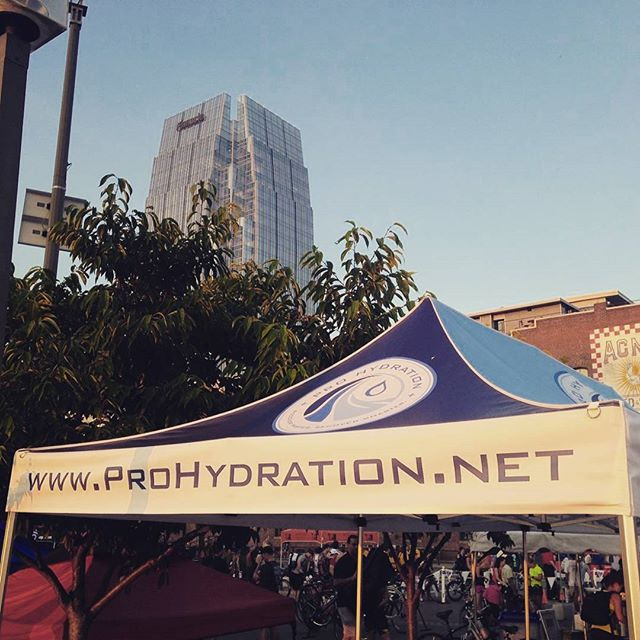 Our tent at the Music City Tri!