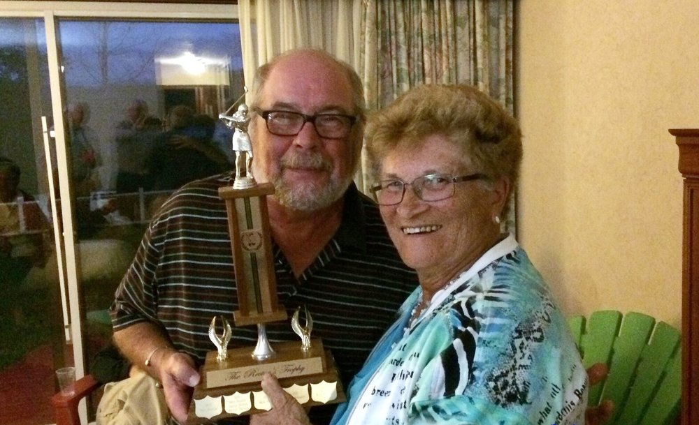 CONGRATULATIONS TO KEVIN f, WINNER OF THE 2017 rECTOR'S CUP! oRGANIZER YVONNE W IS SEEN HERE PRESENTING THE AWARD.