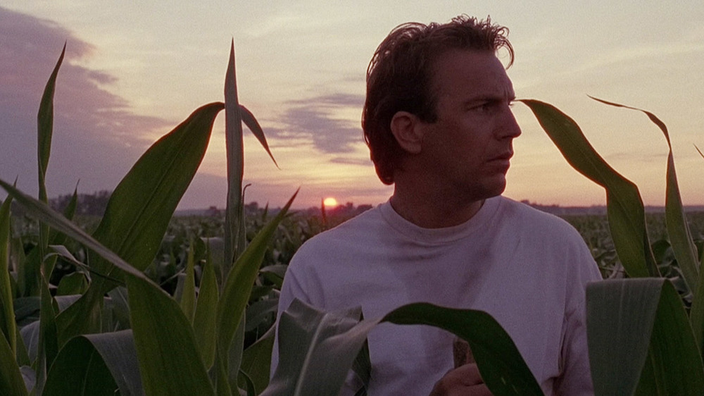 "Scene from the 1989 movie ""Field of Dreams"" starring Kevin Costner, about a farmer who builds a baseball diamond in the middle of his corn field out in the Iowa country side."