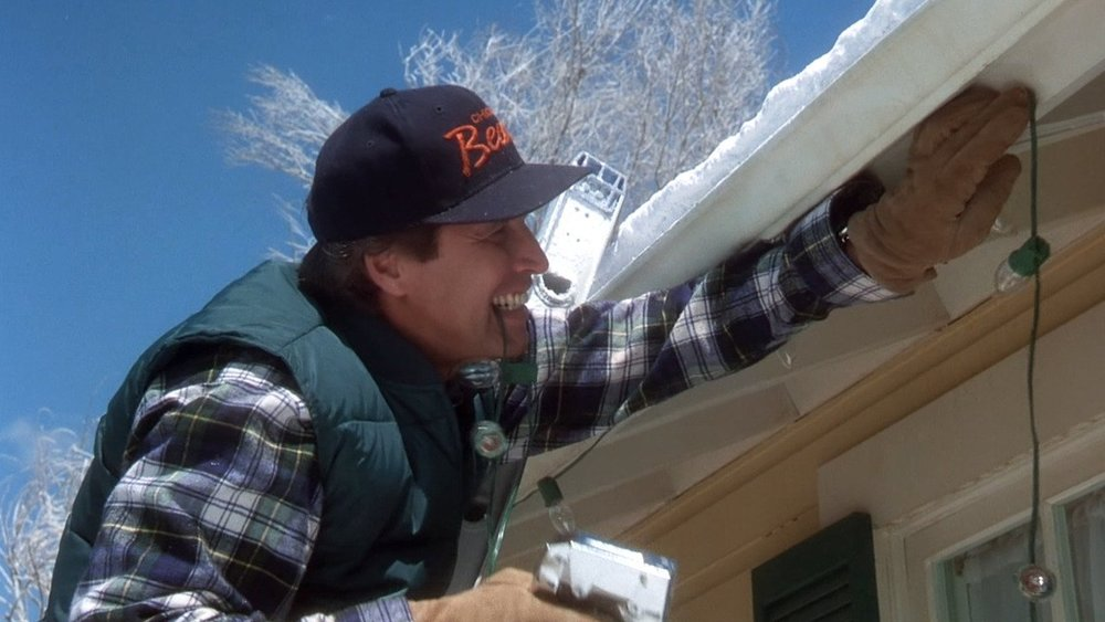 Chevy Chase, as Clark Griswold, trying to outdo himself