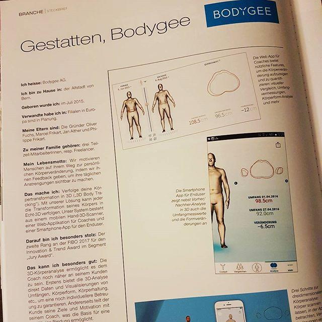 """""""Gestatten, Bodygee"""". Danke für den Steckbrief-Beitrag in der aktuellen #bodylife swiss edition (Seite 24)  #bodylifeswiss #3dbodytracking #körpertransformation #fitfam #fitness #3dbodyscan #vorhernachher #beforeandafter"""