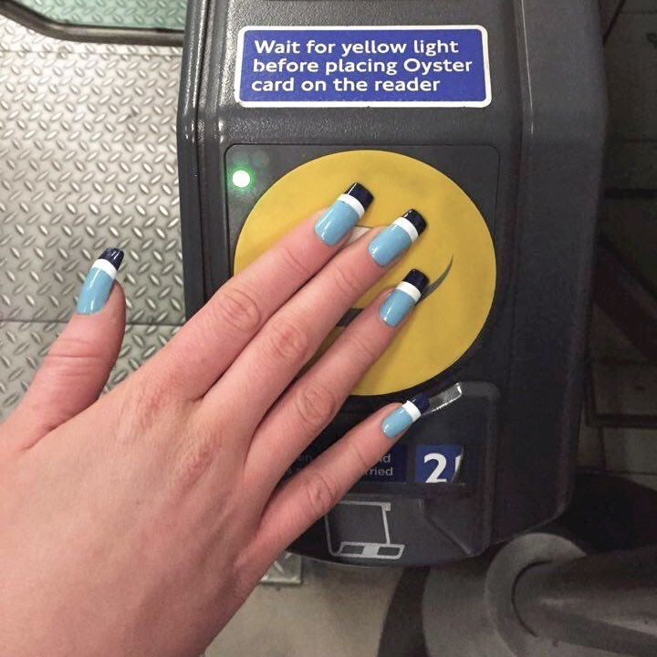 wah qt: lucie davis and her oyster card nails! — WAH LONDON