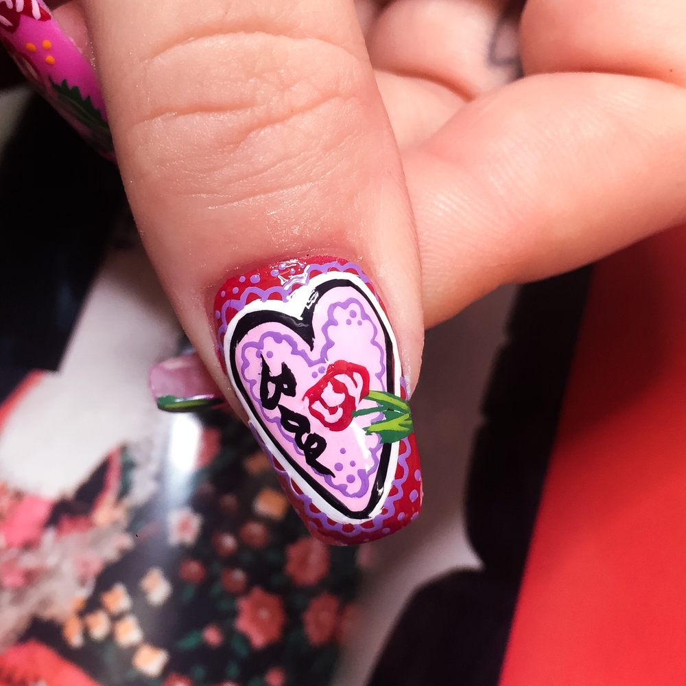 valentines day nail art inspo — WAH LONDON