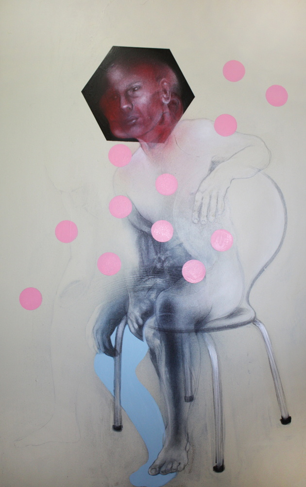 2008. Acrylics, pencil & charcoal on canvas. 160x100 cm  [#jr0809] •