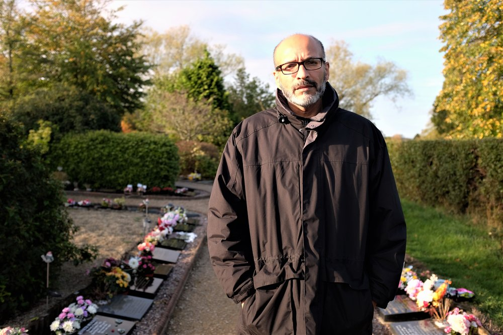 Ariaf Hussain, manager of the Bristol City Council's Cemeteries and Crematories, stands in a new cremation burial section at South Bristol Cemetery. He expects this section to be full by June 2019.