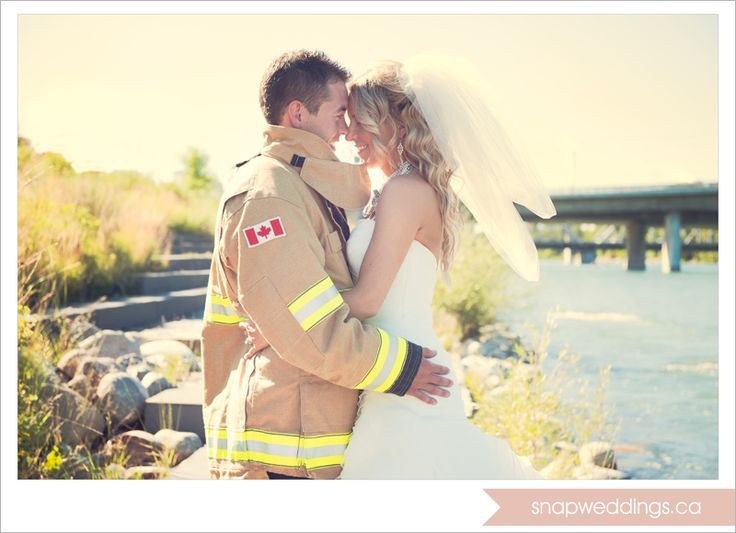 Firefighter weddings