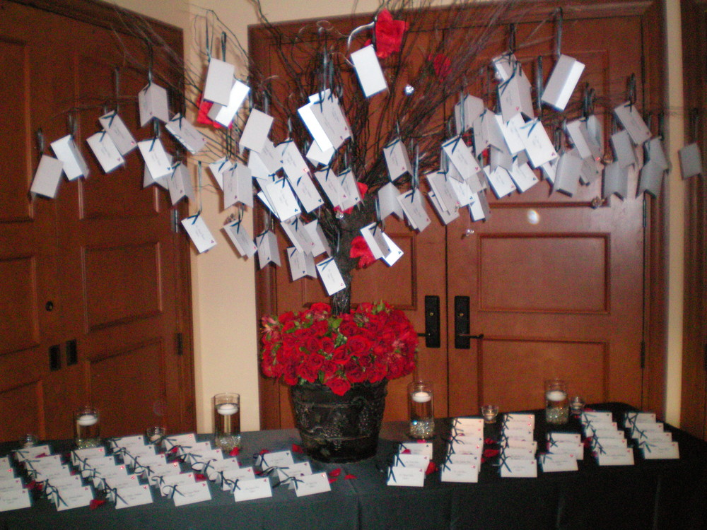 Wedding Place Card Centerpiec