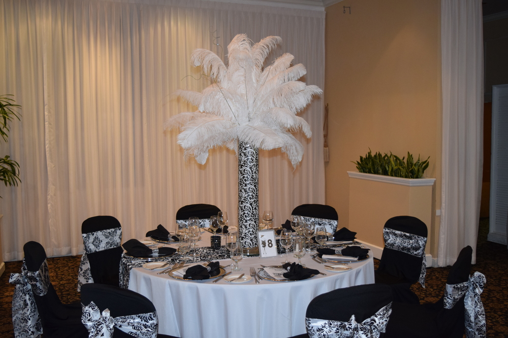 Wedding Feather Centerpiece