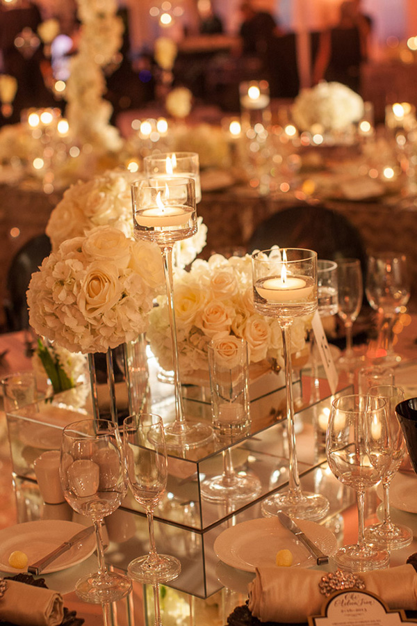 West Palm Beach wedding centerpiece design