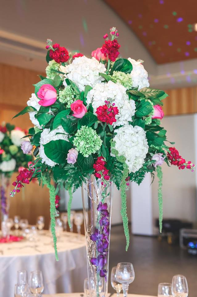 Morkami Japense Gardens Wedding Centerpiece