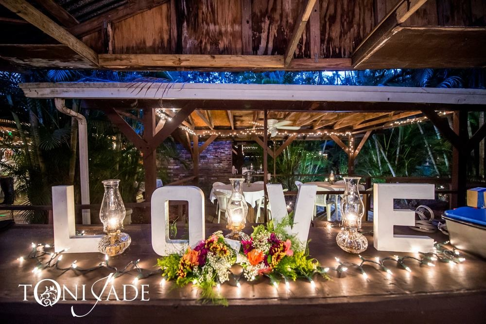 Palm beach county florist rustic wedding