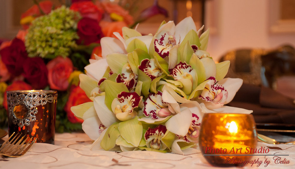 West Palm Beach wedding Florist Centerpiece
